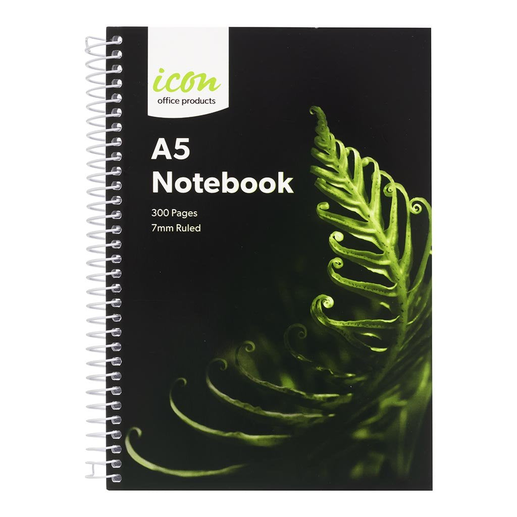 Icon Spiral Notebook A5 Soft cover 300 pg