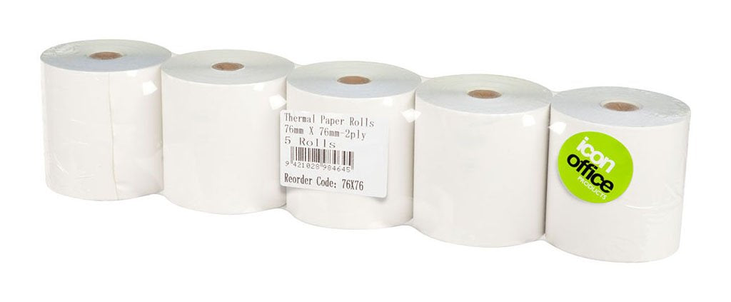 Icon Thermal Roll 76x76mm 2 Ply