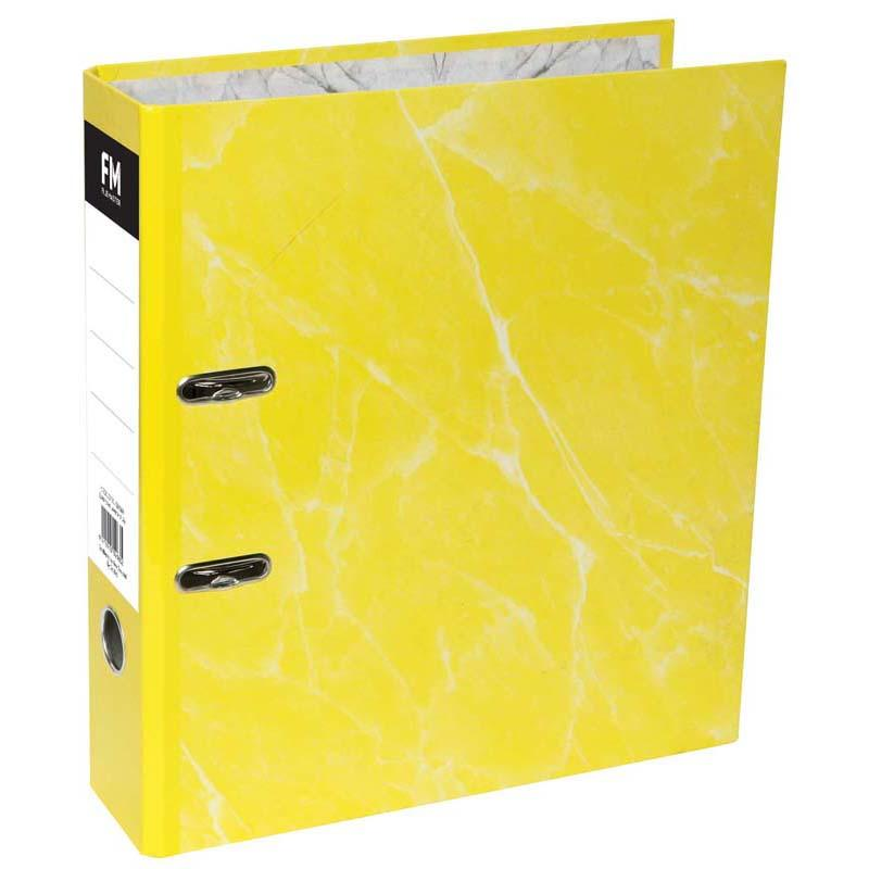 FM Binder Laminated Yellow A4 Lever Arch