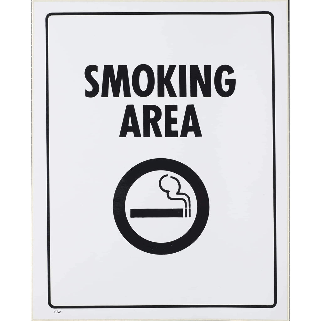 Self Adhesive Sign Smoking Area 290x230