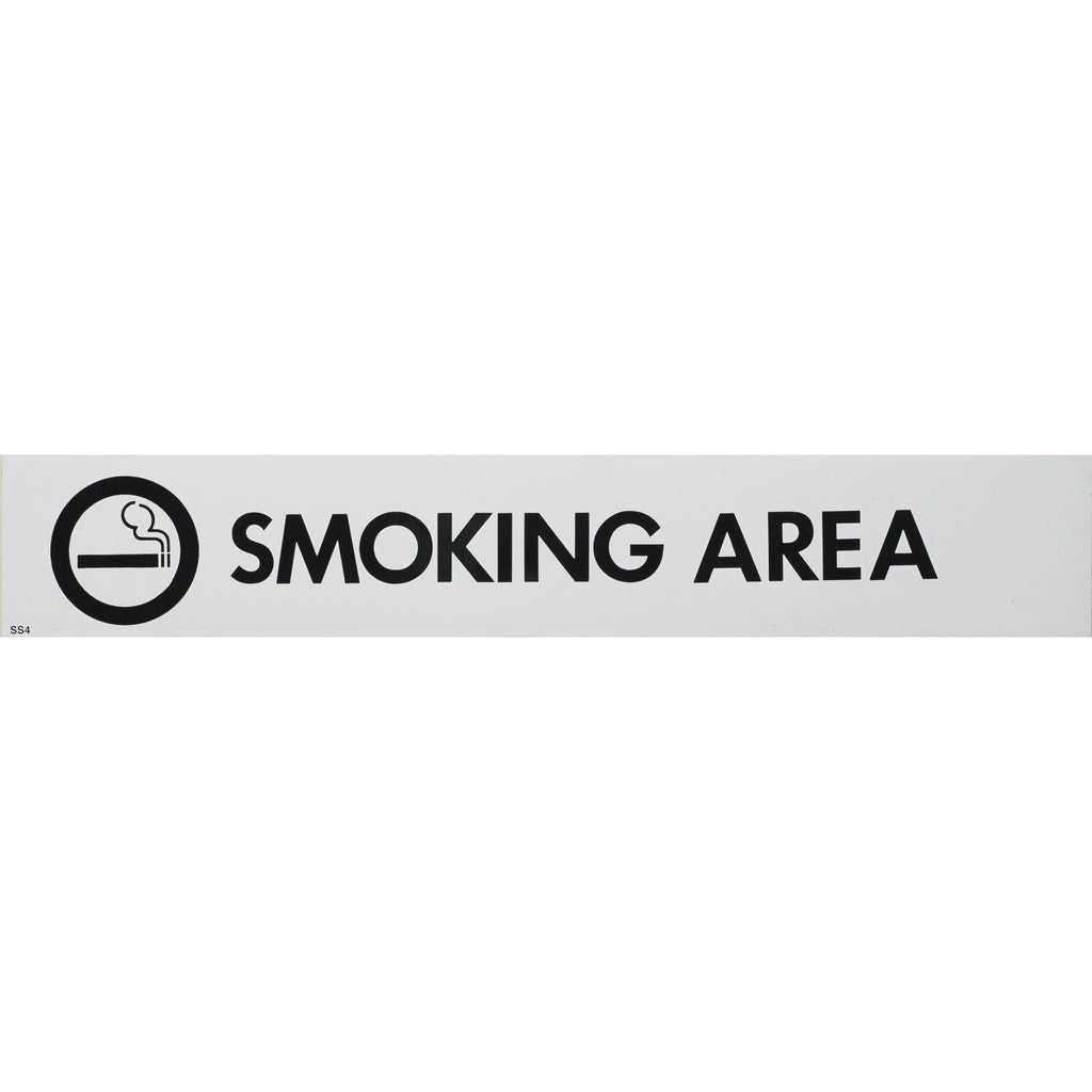 Self Adhesive Sign Smoking Area 55x330