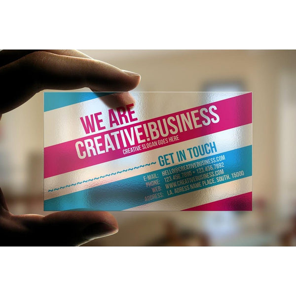 Transparent Business Card - Prints Philippines