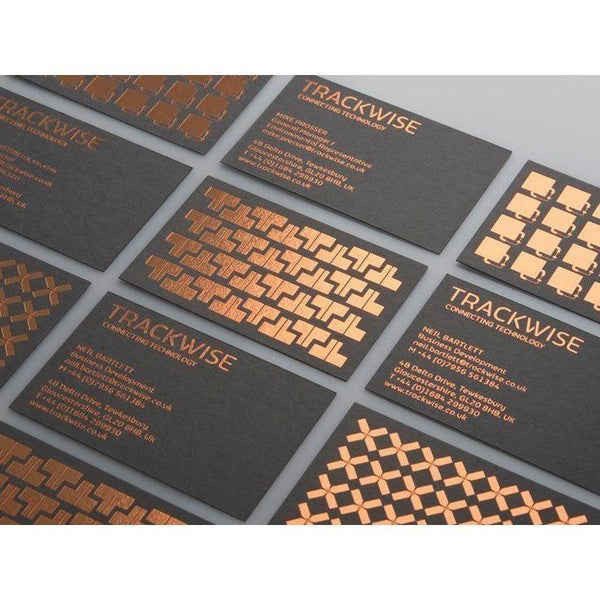 Foil Stamped Business Cards - Maxtor Graphics