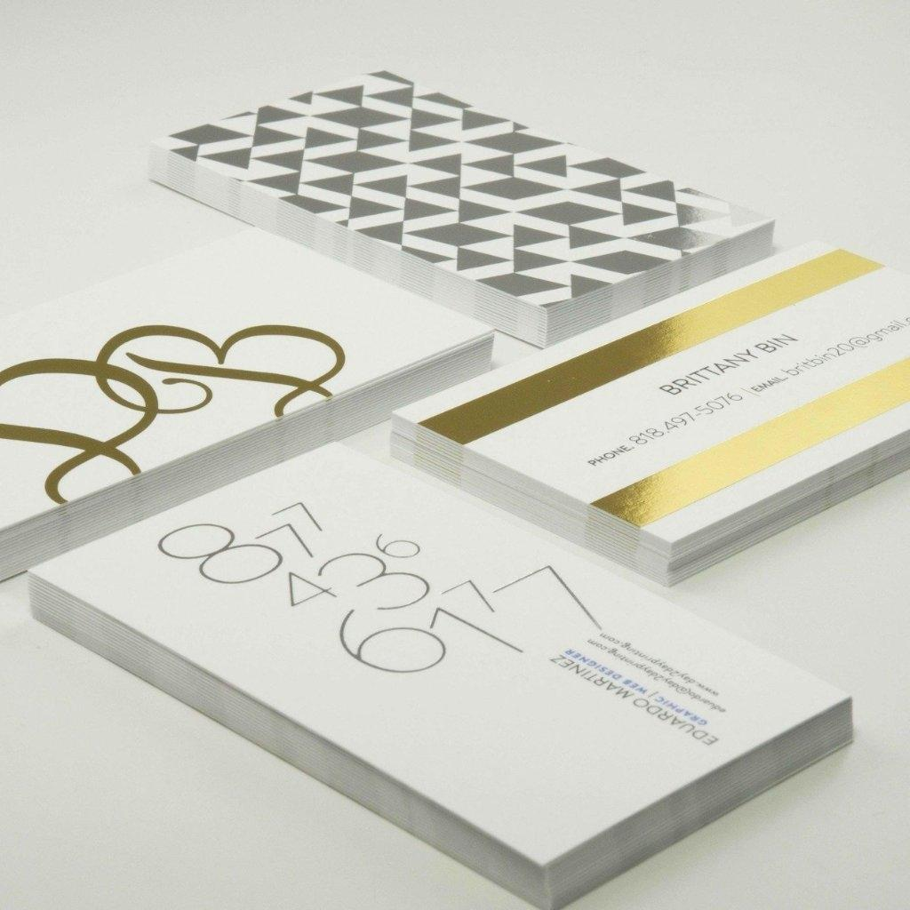 Foil Stamped Business Cards Maxtor Graphics Online Printing Shop
