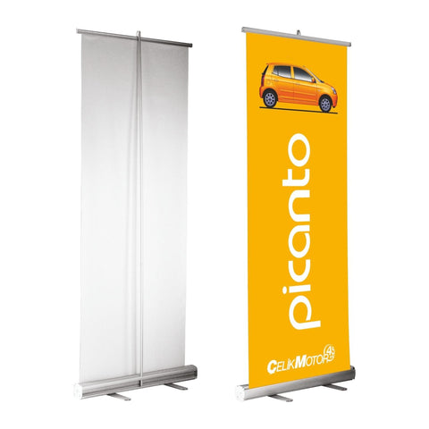 Tarpaulin Banner with Aluminum Roll-Up Stand