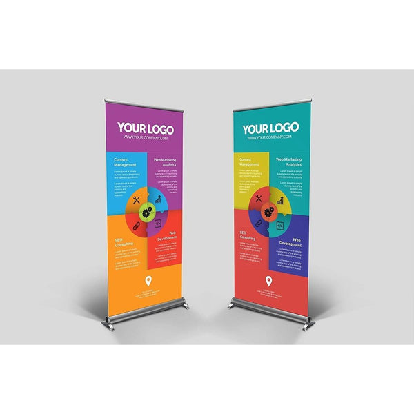 Tarpaulin Banner with Aluminum Roll-Up Stand - Maxtor Graphics