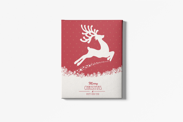 Red Reindeer Portrait Canvas - Maxtor Graphics