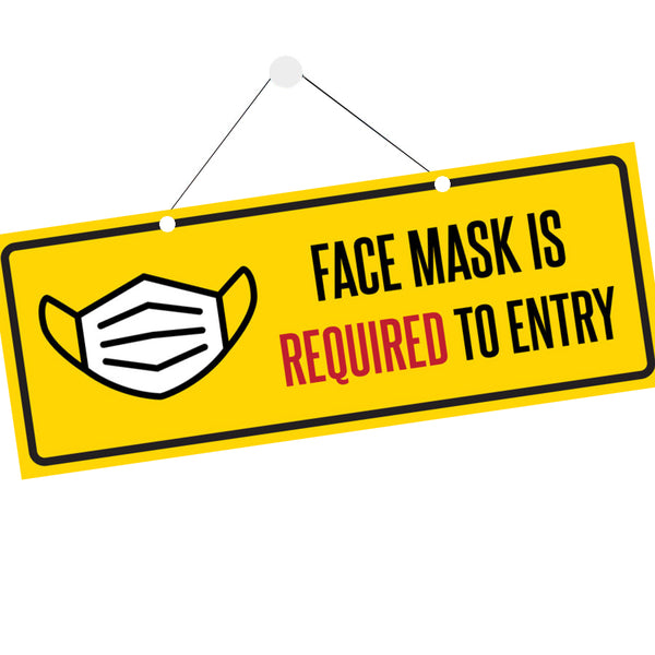 Covid-19 Face Mask Sign - Maxtor Graphics
