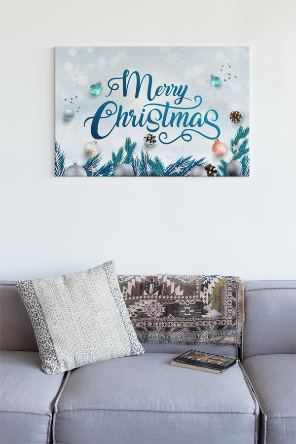 Merry Christmas Landscape Canvas - Maxtor Graphics