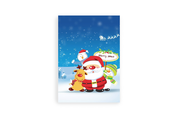 Santa and Friend Portrait Canvas - Maxtor Graphics