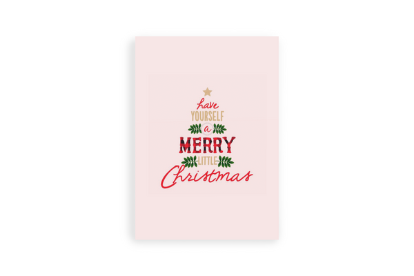 Merry Christmas Portrait Canvas - Maxtor Graphics