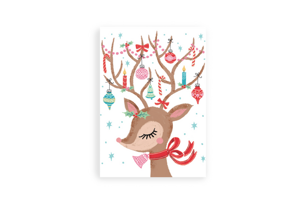 Christmas Horn Portrait Canvas - Maxtor Graphics
