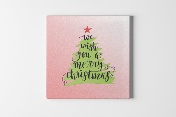 Christmas Tree Square Canvas - Maxtor Graphics