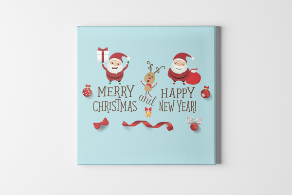 Happy Christmas Square Canvas - Maxtor Graphics