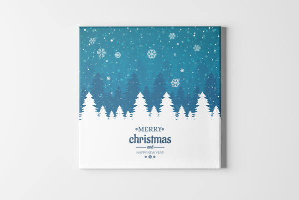 Pine Trees Square Canvas - Maxtor Graphics