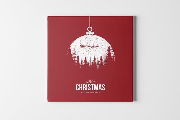 Flying Santa Square Canvas - Maxtor Graphics