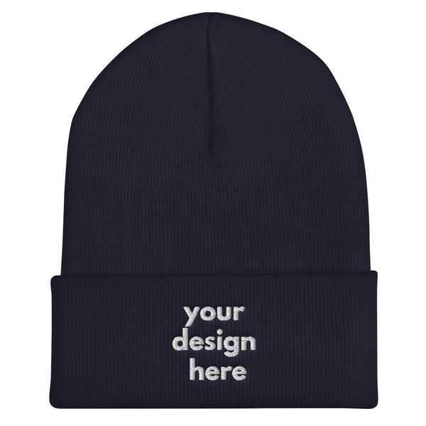 Embroidered Cuffed Beanie - Maxtor Graphics