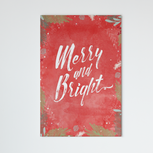 Merry & Bright Portrait Canvas - Maxtor Graphics