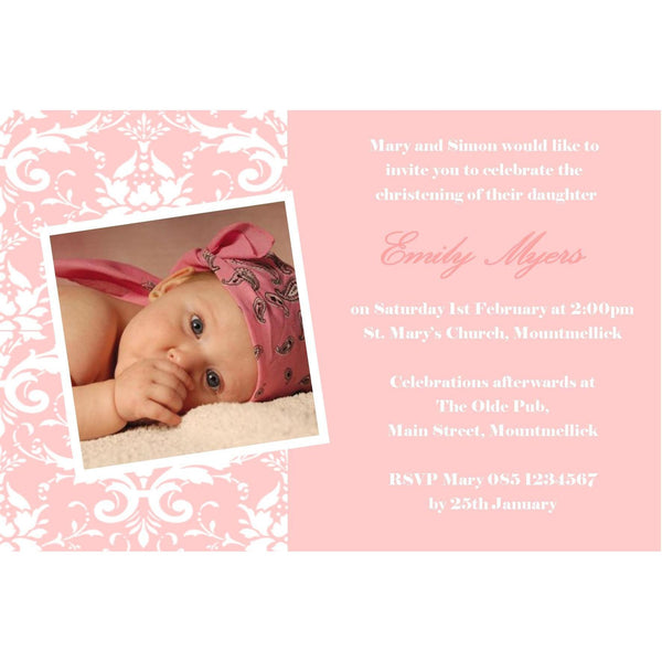 Christening Invitations - Maxtor Graphics
