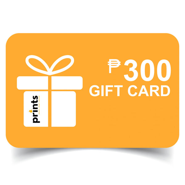 Prints Gift Card 300 - Maxtor Graphics