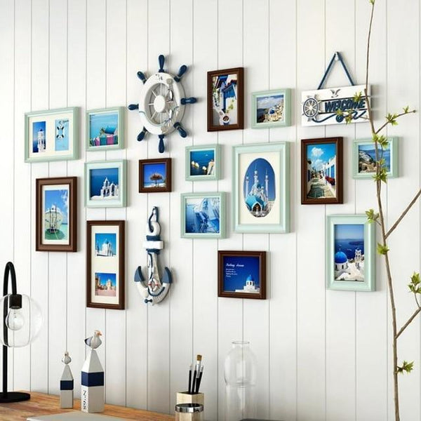 Wooden Collage Nautical Photo Frames - Maxtor Graphics