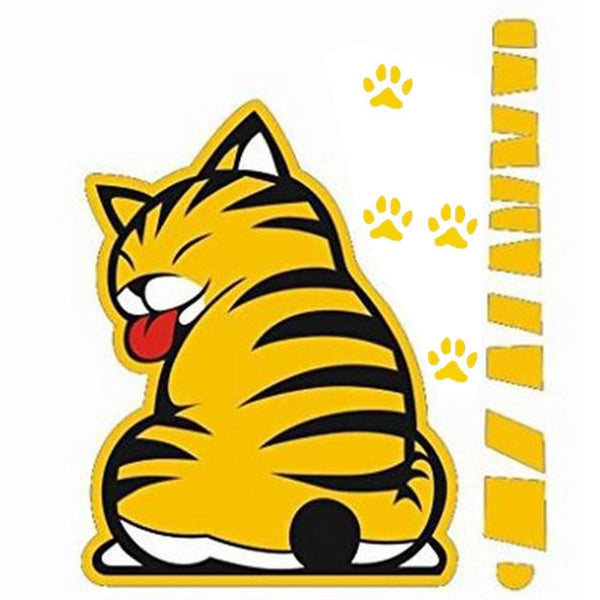 Cat Moving Tail Sticker - Maxtor Graphics