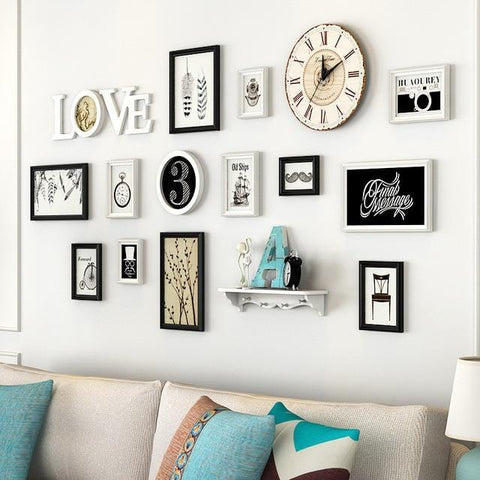 Love Photo Frame Set With Clock