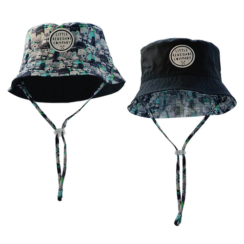 Little Renegade Company - Reversible Bucket Hat Bears & Beasties