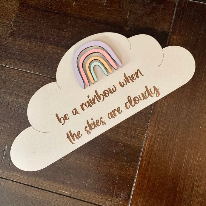 Timber Tinkers Wall Sign - Rainbow Cloud