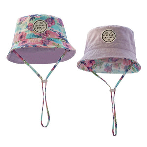 Little Renegade Company - Reversible Bucket Hat Pastel Posies