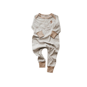 Piper Bug Winter Romper - Ribbed Grey