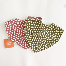 Tilda and Moo Classic Bib Spots - Dark Rose or Olive