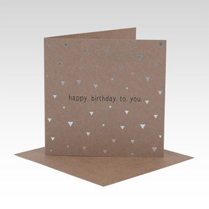 Birthday Greetings Card - Triangles