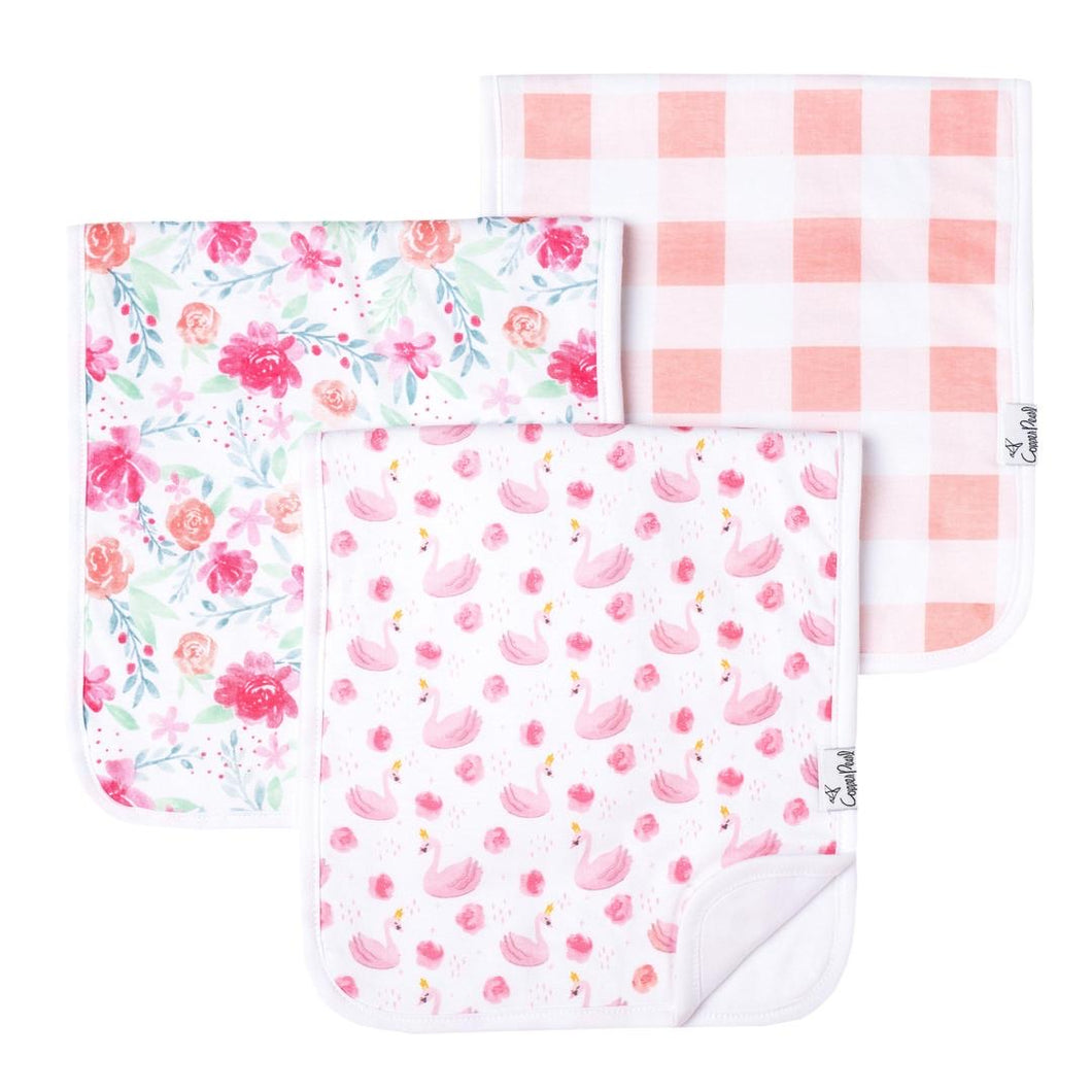 Cooper Pearl Burp Cloths 3 pack - June