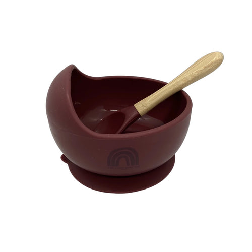 Silicone Bowl and Spoon Set V2.0 - Merlot