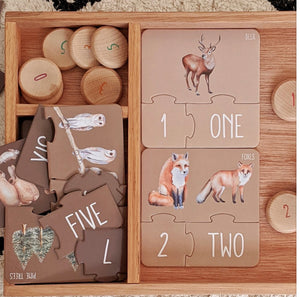Modern Monty Woodland Counting Puzzle