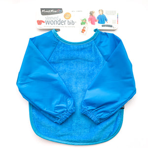 Mum2Mum Long Sleeved Wonder Bib - Blue