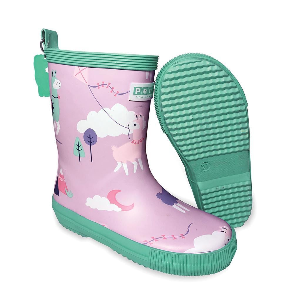 Penny Scallan Gumboot Tall - Loopy Llama