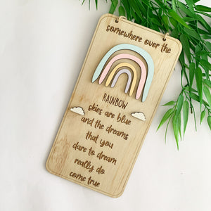 Timber Tinkers Wall Sign - Somewhere Over The Rainbow