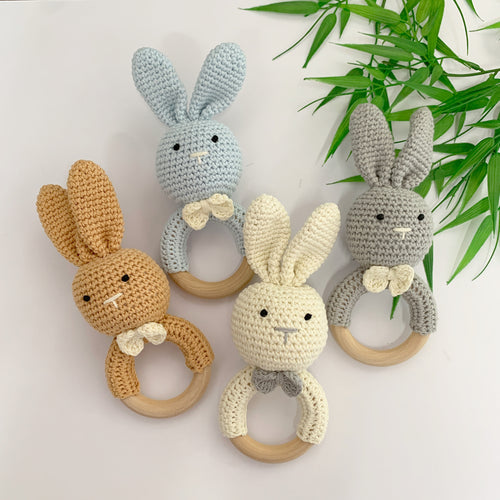 Made By Gabbee Crocheted Rattle - Bunny Assorted Colours