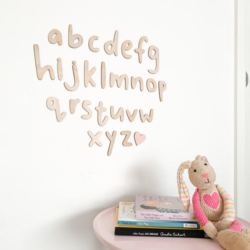 Timber Tinkers Alphabet Letters Full Set