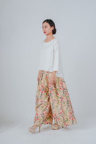Aludra Bronze Pleated Swing Pants