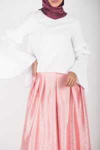 Embossed Pleated Salmon Pink (Instocks)