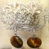 Tiger Eye Shrubbery Earrings