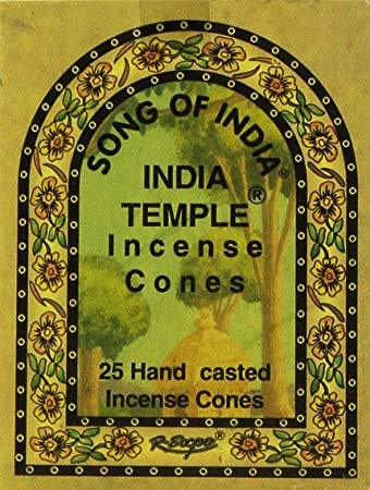India Temple Incense Cone - Song of India