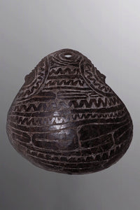 Carved Abelam Coconut Cup