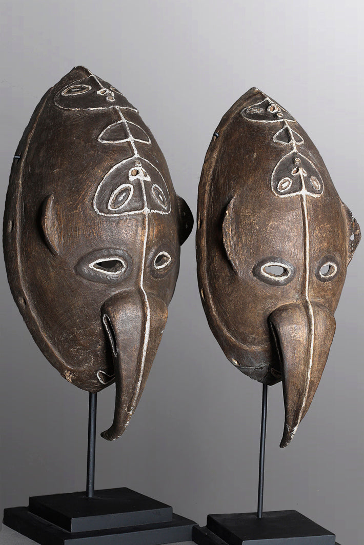 Pair of Yangoru Spirit Masks