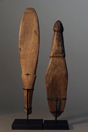 A Pair of Carved Food Spoons