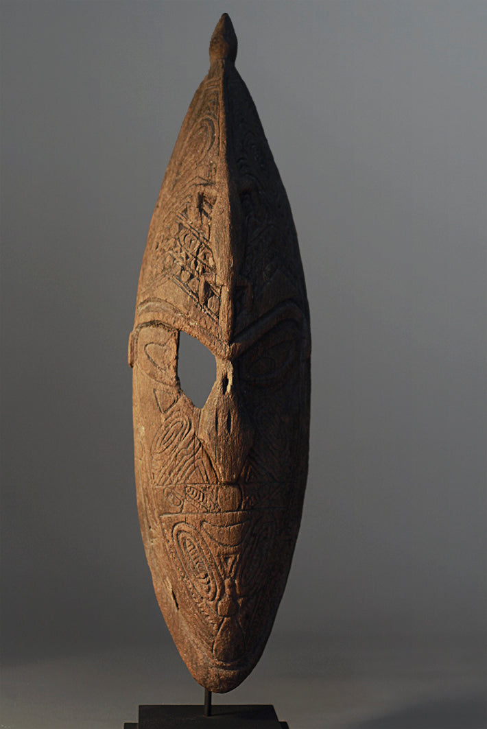 Lower Sepik Mask With Etchings