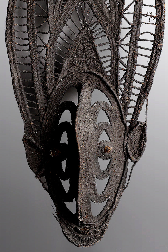 Ancient Woven Maprik Fish Yam Mask ~ Price On Application